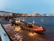 RNLI Lifeboat returning to shore