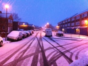 Snow in gravesend on monday February 11