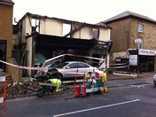 Suspected arson in gravesend