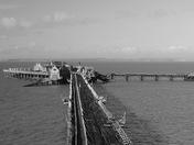 Birnbeck Pier in Black & White