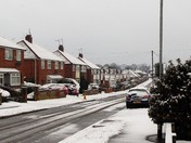 OUR FIRST SNOW OF WINTER IN BROOM AVENUE,THORPE ST.ANDREW, NORWICH