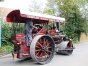 Red: A majestic old traction engine out for a spin