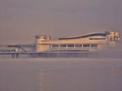 Pier in the mist.