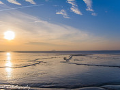 Birnbeck pier and sunset