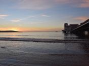 Sunset over Brean Down