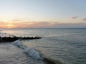 Movement. Cromer As The Sun Sets