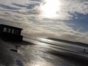 Sunset at weston beach