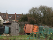 Storm damage on the allotment site