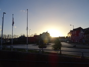 Exmouth town after sunrise