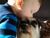 My Nephew leo with his dog coco