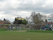 AIR AMBULANCE ATTENDING INCIDENT AT NEEDHAM MARKET SUNDAY LUNCH TIME