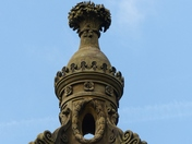Architecture. Top Of The Monument At Holkham Hall