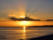 Sunset Across Budleigh Bay