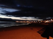 Seafront at night