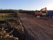 Roundswell footbridge work