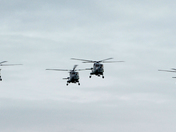 Farewell Flight of the Lynx Helicopters over Weston super Mare