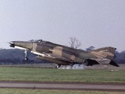 F-4G 697223 SP Wild Weasel Landing at USAF Bentwaters