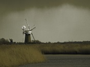 Rain storm on the Thurne Marshes.