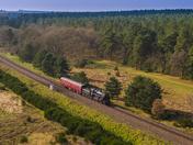 Filming the BR Standard class 2-6-0 N0.76084 steam train