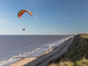 Paragliders over Mundsley