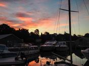 Dawn at Brooms boats