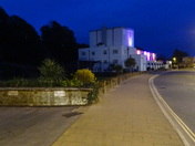 Exmouth Pavilion at night
