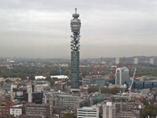 A view from the top floor of centre point overlooking London