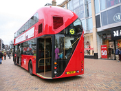 The new London Bus prototype in Bromley High Street