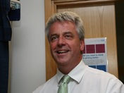 Andrew Lansley Secretary of State for health at The Princess Royal Hospital, Far