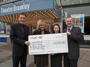 Churchill Theatre cheque presentation to Ronald McDonald house Charities