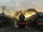 Steaming at sunrise