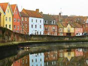 Reflections on the river Wensum.