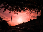 Sunset in Norman Road Ilford