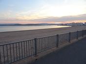 The Exmouth beach at dusk