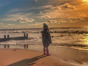 Exmouth beach with my daughter