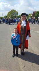 With the mayor of havering
