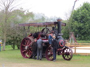 Steam engine at suffolk young farmers country fair.