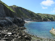 Beautiful sunshine on Lundy Island