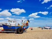 Blue skys over Aldeburgh