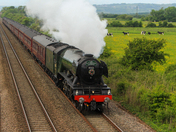 The Flying Scotsman Steaming through Brent