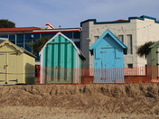 Felixstowe Beach Huts threatened by erosion