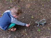 Happiness feeding the squirrels 4