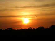 Military Sunset Flyby
