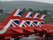 Red arrows at Exeter airport