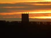 Church in the sunset