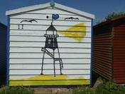 Beach hut fun painting
