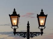 SILHOUETTE. Lamp On Pier