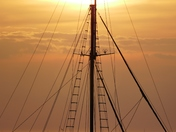 SILHOUETTE. Mast And Sunset