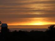 Silhouette:Sunrise Windmill.