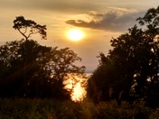 Sunset from the Iron Age Fort, Weston Woods